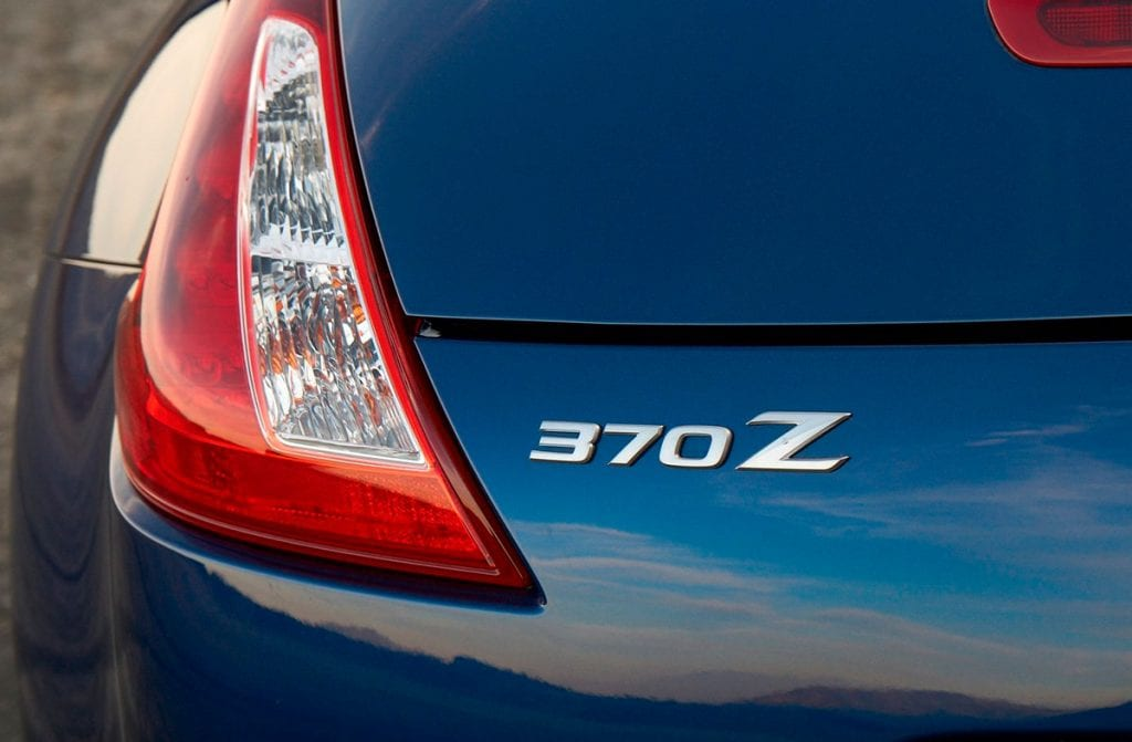 Parte trasera del Nissan 370z