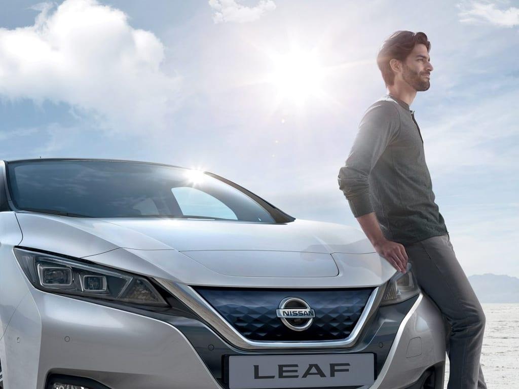 Frontal del Nissan Leaf