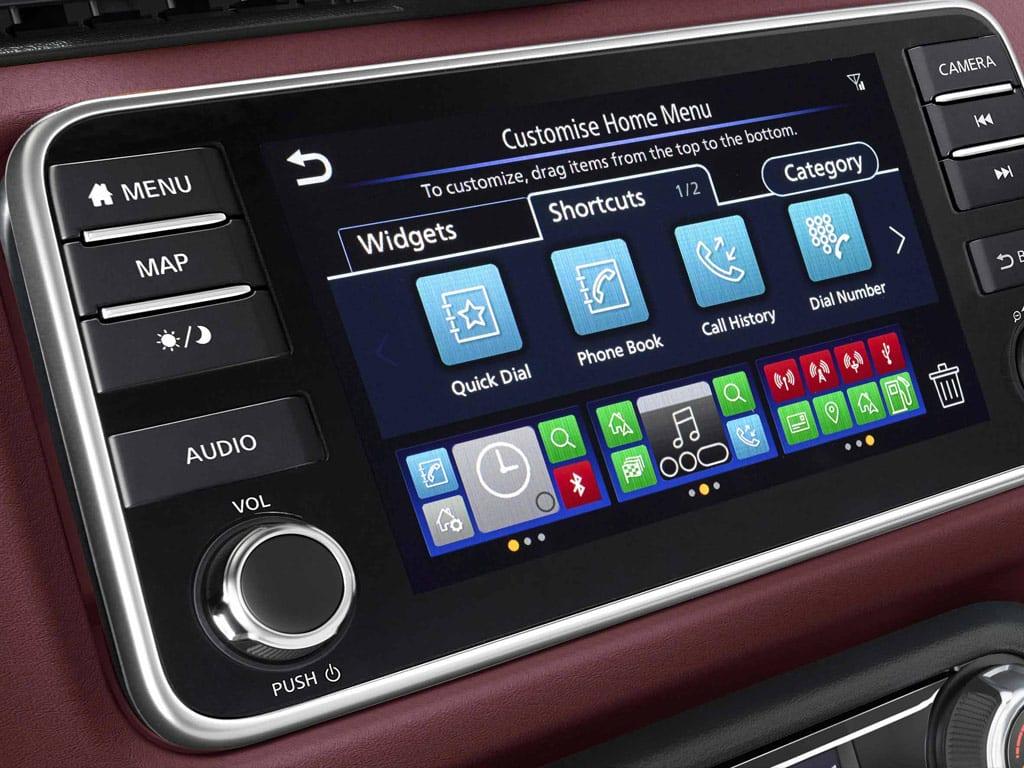 Nissan Micra sistema de navegación