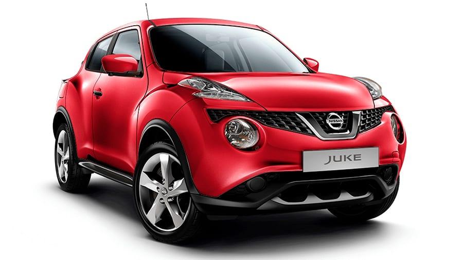 Nissan Juke rojo sólido