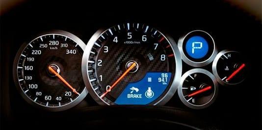 Cuadro de velocidad del Nissan GTR