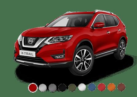 Colores de carrocería Nissan X Trail Tekna