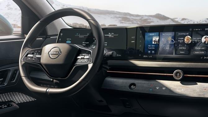 Cuadro de mando del Nissan Ariya